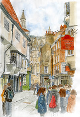 Stonegate and Minster Gates, York