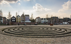 ripples in stone (stevefge) Tags: nijmegen waalkade stone steen houses huizen gelderland landscape city nederland netherlands nl nederlandvandaag reflectyourworld architecture