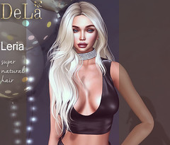 """=DeLa*= new hair """"Leria"""" (=DeLa*=) Tags: dela hair fitted rigged mesh materials secondlife secondlifefashion sl slhair style new"""