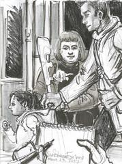 Nice daddy by Suzanne Forbes March 23 2017 (slurkflickr) Tags: suzanneforbesartist suzanneforbes2017 drawing portraitdrawing suzanneforbes berlinart visibility ubahn u7 berlinsubway