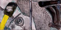 sehen Sie aus dem Fenster und betrachten Sie nicht das Grau der Welt (raumoberbayern) Tags: sketchbook skizzenbuch tram munich münchen bus strasenbahn pencil bleistift ballpoint paper papier robbbilder stadt city landschaft landscape spring frühling summer sommer lake trip bavaria germany airport