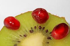 Kiwi and Pomegranate (judygva) Tags: macromondays memberschoiceseeds