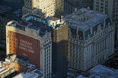 Emigrant Industrial Savings Bank and Surrogate's Courthouse (aka Hall of Records) - view from One World Observatory at One World Trade Center, NYC (SomePhotosTakenByMe) Tags: emigrantindustrialsavingsbank bank surrogatescourthouse gericht court courthouse hallofrecords mural wandbild wtc 1wtc oneworldtradecenter worldtradecenter oneworldobservatory observatory aussichtsplattform freedomtower observationdeck lowermanhattan financialdistrict downtown innenstadt urlaub vacation holiday usa unitedstates america amerika nyc newyorkcity newyork stadt city wolkenkratzer skyscraper gebäude building indoor architektur architecture