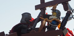 The Final Man (W. Navarre) Tags: lego build moc shot figs minifigure fight duel final dramatic epic