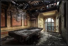 (Robbez) Tags: billiards urbex abandoned burned