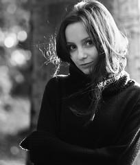 (Magdalena Roeseler) Tags: portrait beautiful bw blackandwhite monochrome woman natural olympus 45mm zuiko