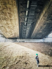 Kitchener - Mothership (Dave Noyle) Tags: industrial hat hill shadow boy under overpass 2017 spring canada ontario kitchener