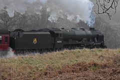LMS No.46100 'Royal Scot' southbound at Moorgates [NYMR] on 28th March 2017 (soberhill) Tags: northyorkshiremoorsrailway nymr lms 46100 royalscot grosmont pickering railway steam train locomotive moorgates 2017