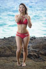 Kat (Marvin Chandra) Tags: d600 85mm katsweets sukiyuki marvinchandra 2017 bikini model portrait ocean halonacove landscapeportrait lavarocks hawaii oahu hawaiikai coastal