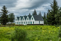Thingvellir Iceland (Einar Schioth) Tags: thingvellir þingvellir sky summer grass grassland day canon clouds cloud trees house oldhouse nationalgeographic ngc nature photo picture outdoor iceland ísland icelandicnationalpark einarschioth
