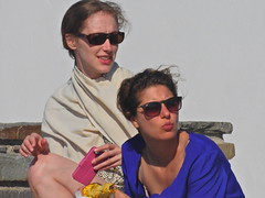 Thelma and Louise's daughters (Couldn't Call It Unexpected) Tags: raybans girls greece paros sunshine pout