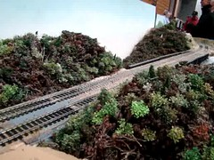 HO.Milwaukee Rd 4-8-4 running through the Dells. (Chicago Rail Head) Tags: localmodeltrainclubs hogauge ho187scale steamlocomotives americanrailroads milwaukeeroad 484