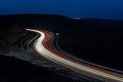 Light trails (emilqazi) Tags: light trails traffic travel landscape cars vehicles night evening mountains azerbaijan qobustan long exposure road highway motorway