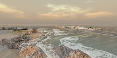 in the morning (flubs ♥) Tags: sl secondlife flickr firestorm dreamy outdoor nature beach water landscape