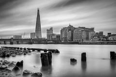 The Shard mono (Alan Reeve) Tags: london thames theshard longexposure canon
