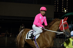 DSCF8428 (kosodate_baken) Tags: 騎手 ジョッキー jockey 内田利雄 ピンク mrピンク