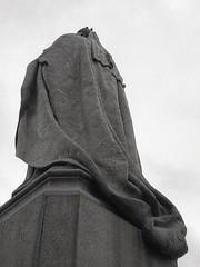robes of the ruler (OhDark30) Tags: olympus 35rc 35 rc film 35mm monochrome bw blackandwhite bwfp fomapan 200 rodinal statue queenvictoria birmingham bronze robes emblems plinth