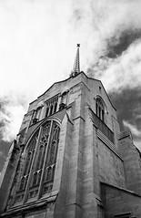 Englis gothic church (-Alberto_) Tags: yashicataf kodak100tmax 35mmfilm pointandshot architecture carlzeiss oakland california