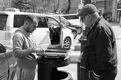 Taxi Drivers in Tbilisi (Laszlo Horvath.) Tags: taxi drivers tbilisi black white monochrome portrait nikon nikond7100 sigma1835mmf18art