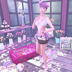 Happy Easter! (SL Freebie Addiction) Tags: sl secondlife slfashion serinalacavacollection 7deadlys{k}ins vanityhair eyecandy kccouture rookposes mirage eveadam slink