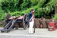 Load gun, (nutzk) Tags: virginia yorktown americanrevolutionmuseum recreated continentalarmy encampment firing gun