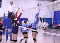 IMG_3607 (SJH Foto) Tags: girls volleyball teen teenager team quickset storm u14s net battle spike block action shot jump midair