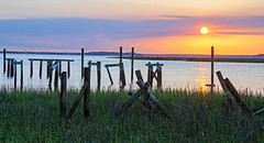 Beauty and Destruction DSC_0472_edited-1 (John Dreyer) Tags: hiltonheadisland hurricanematthew docks sunset broadcreek nikon nikond5100 copyright2017johnjdreyer photocreditjohnjdreyer