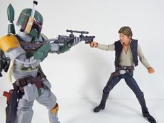 Boba Fett and Han Solo (Matheus RFM) Tags: starwars bobafett hansolo revoltech shfiguarts kaiyodo bandai