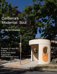 I'm giving a talk! (Chimay Bleue) Tags: canberra australia modernism modernist design architecture canberras soul darren bradley bus shelter stop