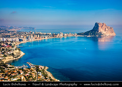 Spain - Calp -  Calpe's Peñón de Ifach Rock at shores of  Mediterranean Sea from above (© Lucie Debelkova / www.luciedebelkova.com) Tags: calp calpe alicanteprovince spain spanish españa kingdomofspain reinodeespaña southwesterneurope country europe europeanunion eu es wonderful fantastic awesome stunning beautiful breathtaking incredible lovely nice best perfect world exploration trip vacation holiday place destination location journey tour touring tourism tourist travel traveling visit visiting sight sightseeing wwwluciedebelkovacom luciedebelkova luciedebelkovaphotography photography landmark