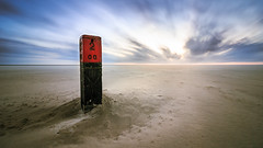 Windy beach (loddeur) Tags: longexposure ndfilter nd1000 benro landscape seascape clouds sky sand feature wide canon1018stm sunset lonely wind 2 paal schiermonnikoog wadden eiland island