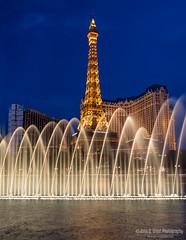 Dusk on the Strip (jcernstphoto) Tags: lasvegas vegas bellagio paris fountains