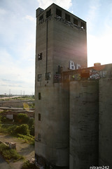 Sun Over The Silos (nitram242) Tags: abandoned chicago silos damen
