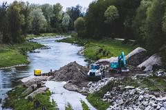 (simon.obereder) Tags: danube donau schotter bagger lkw truck lorry excavator blue water gras green yellow rock gravel nikon nikond7200 nature outdoor austria österreich upperaustria oberösterreich