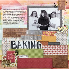 Late Night Baking (girl231t) Tags: paper scrapbook 2016 6x6paperpadlove layout 12x12layout scraplifted