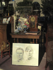 Where No Antique Has Gone Before (Robb Wilson) Tags: startrek summer glendale sketching leonardnimoy antiquestore captainkirk ussenterprise williamshatner classiccarshow misterspock
