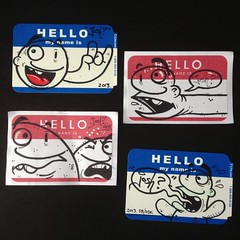 Hello (Question Josh? - SB/DSK) Tags: hello streetart pen ink sticker stickerart stickers josh question marker highlighter hellomynameis questionjosh hmni uploaded:by=flickrmobile flickriosapp:filter=nofilter