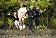 Everybody jump (Paul O' Connell) Tags: ireland horizontal kids children happy photography jumping enjoyment capitalcities dublinrepublicofireland leinsterprovince