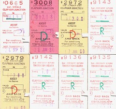 1980/81 British Railway tickets. (Ledlon89) Tags: london tickets transport traintickets britishrailways southernregion railwaytickets alltypesoftransport