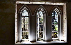 Beautiful windows at the castle (MonkeyL0ver) Tags: old castle abandoned architecture graffiti adventure forgotten exploration