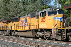 Union Pacific #5103 (EMD SD70M) in Colfax, CA (CaliforniaRailfan101 Photography) Tags: up amtrak unionpacific priority ge freight bnsf reefer manifest emd californiazephyr burlingtonnorthernsantafe dash9 dpu es44dc gevo sd70m amtk c449w stacktrain sd70ace es44ac colfaxca c45accte p42dc trackagerights es44c4 tietrain sd59mx unitreefer zdlsk trainsincolfaxca