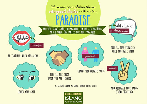 "6 Good Deeds to Paradise • <a style=""font-size:0.8em;"" href=""http://www.flickr.com/photos/97145415@N02/8985592889/"" target=""_blank"">View on Flickr</a>"