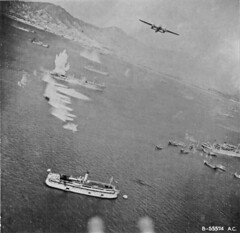 Bombing  Japanese ships in Hong Kong Harbor B-25 (SSAVE) Tags: hongkong japanese wwii worldwarii nara kowloon usaaf