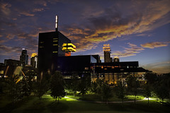 guthrie theater - downtown minneapolis, minnesota (Dan Anderson.) Tags: city sunset sky minnesota skyline architecture downtown cityscape minneapolis twincities mn guthrie guthrietheater