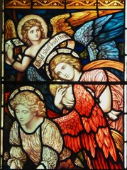 'Children's Window' by Henry Holiday (Glass Angel) Tags: angels stainedglasswindow ambleside henryholiday stmaryschurchambleside