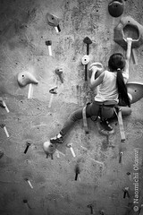 The Gravity Vault (Nao Okawa) Tags: girls sports rock sisters asian fun japanese climb indoor rope strength harness endurance challenge holds pulleys carabiners uppersaddleriver indoorrockclimbing gravityvault