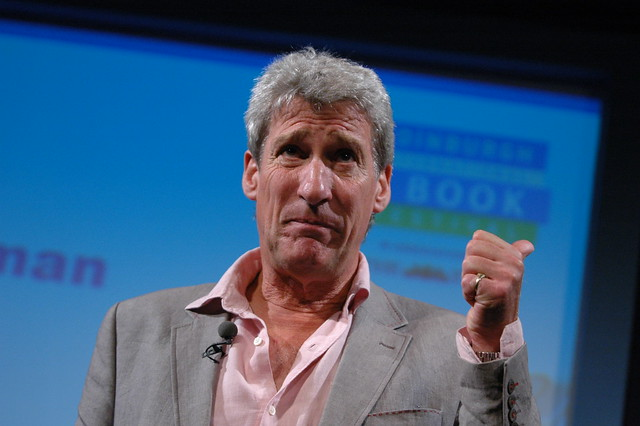 Jeremy Paxman on stage in 2007