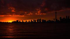 Sunset over Toronto (mira g (northy)) Tags: sunset toronto cntower torontoskyline