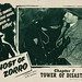 "Ghost of Zorro (Republic, 1949). Lobby Card (11"" X 14"") Chapter 7 -- ""Tower of Disaster."""