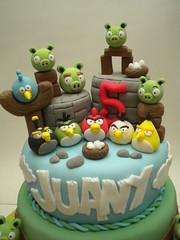 Torta Angry Birds (Pastelera Bakery Shop) Tags: birds cake angry palmademallorca pasteles islasbaleares pastelesdecorados pastelesdecoradospalmademallorca